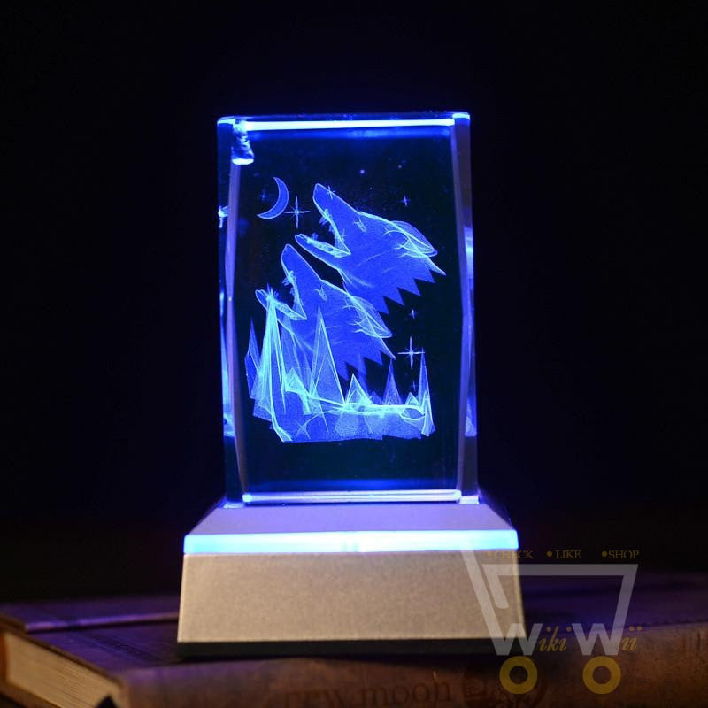 Crystal Wolf Laser Carving - WikiWii