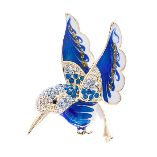 Crystals Hummingbird Brooch - WikiWii