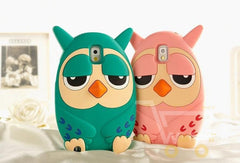 cute 3D Owl design 2 colors soft silicon protective cover for Samsung galaxy S3 /S4 /S5 note 2 3 4 - WikiWii