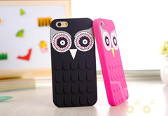 Cute Cartoon OWL Soft Rubber Phone Case Cover For iPhone 4 / 4s / 5 / 5s / 6 / 6 plus - WikiWii