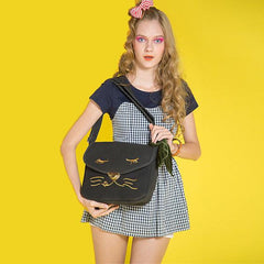 Cute Cat Bags Preppy Style - WikiWii