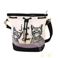 cute cat Spanish Canvas Bucket Bag - WikiWii