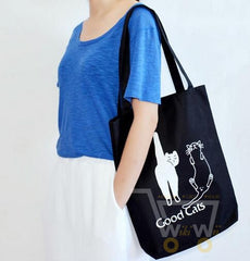 Cute cats shoulder bag,shopping bag - WikiWii