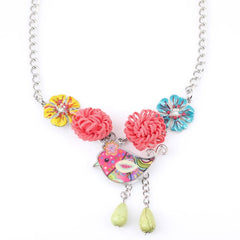 Cute Flower Chicken Necklace - WikiWii