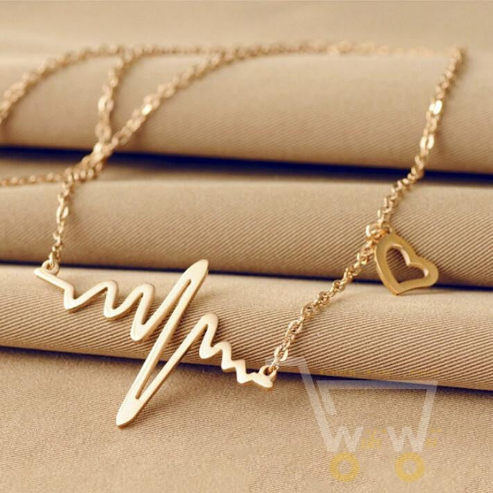 Cute Gold/ Silver Plated Heart Necklace