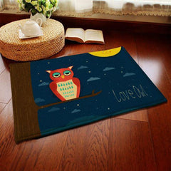 Cute Owl series Printed Pattern Carpet - WikiWii