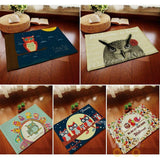 Cute Owl series Printed Pattern Carpet