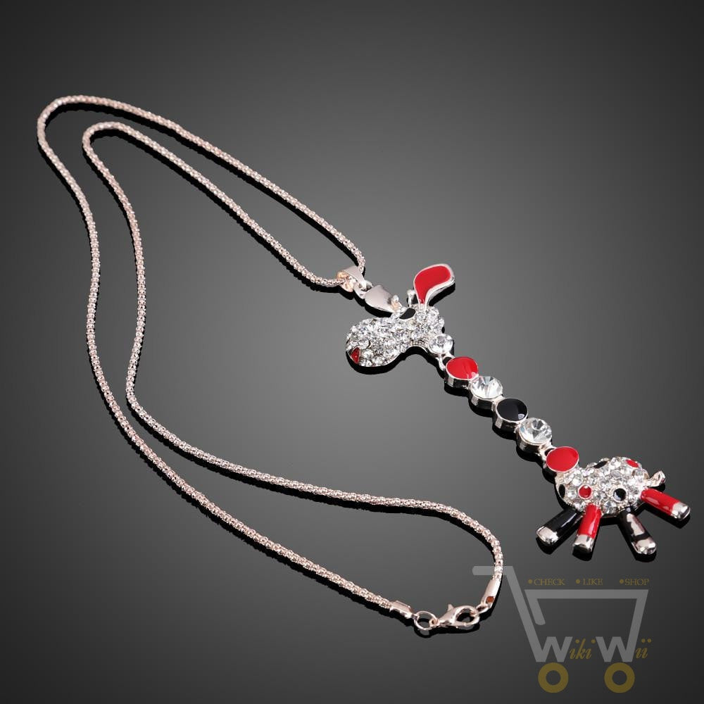 Cute  Style Giraffe Necklace - WikiWii