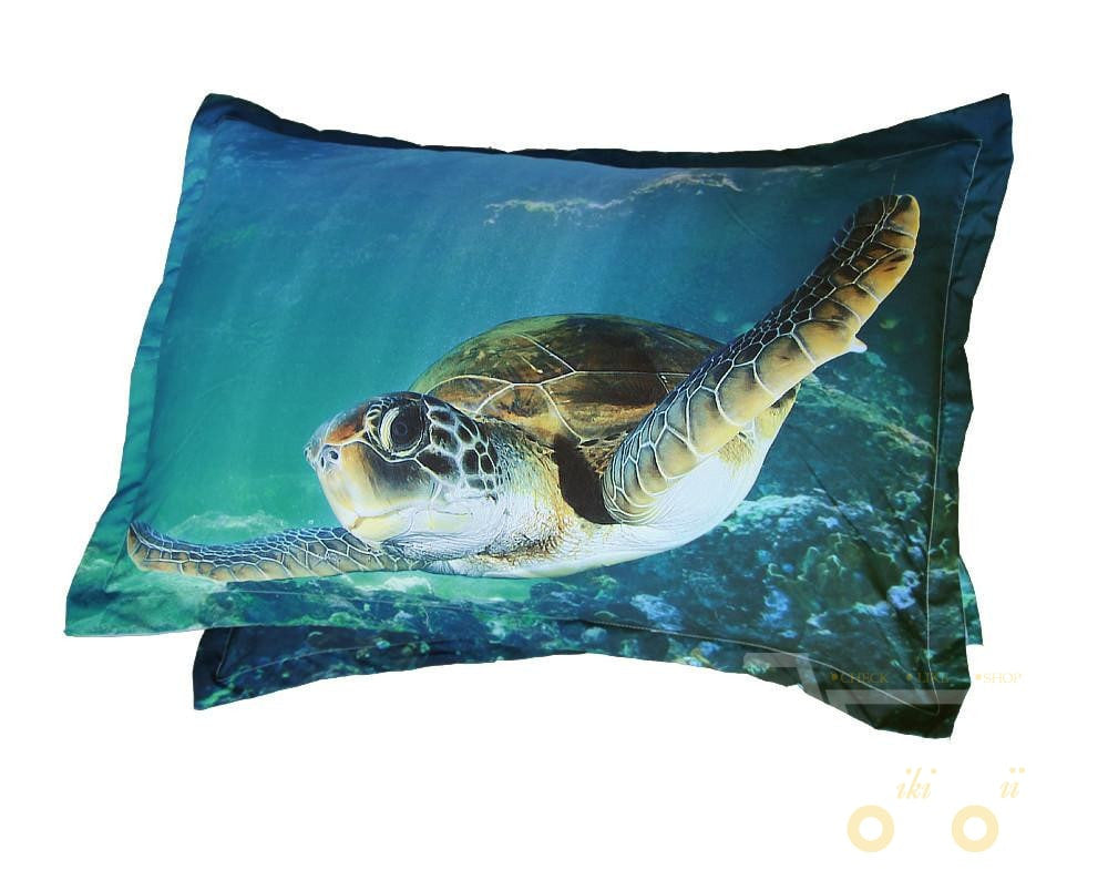 Digital Print Hd Modal Sheets 3d Sea Turtle Cover Set