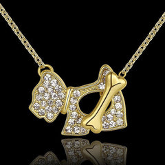 Dog Bone 18 Kg Gold Plated vintage jewelry necklaces - WikiWii