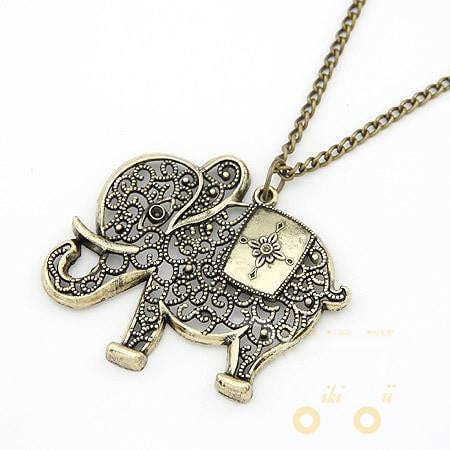 Elephant Metal Necklace - WikiWii