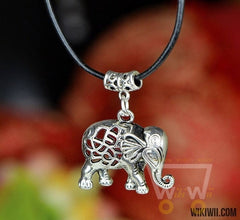 Elephant Silver Plated Necklace - WikiWii