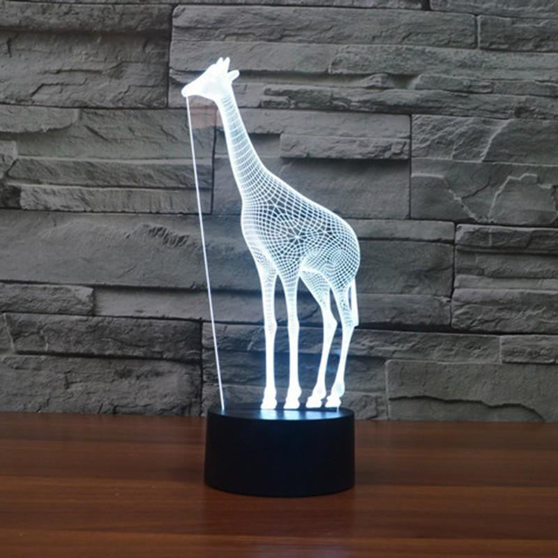 ... Fantastic Design Giraffe Night Light Table Lamp   7 Rainbow Colors  Inside It   WikiWii ...