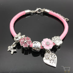 Floral charm bracelet - WikiWii