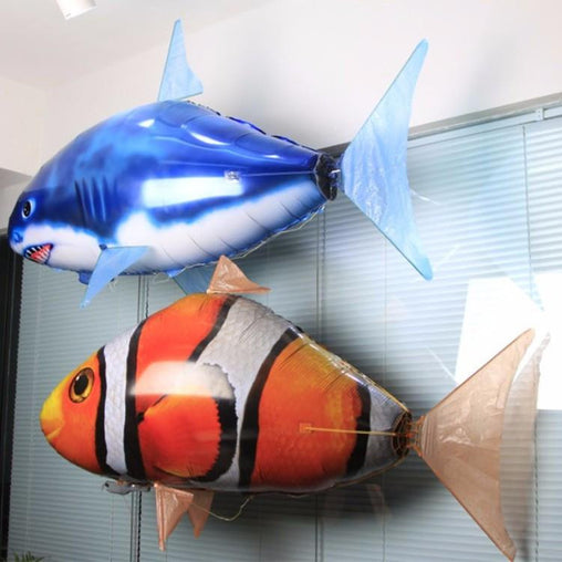 Flying shark Fish Air balloons with remote control - WikiWii