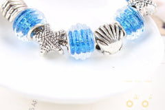 Glass Beads Starfish Charm Bracelets - WikiWii