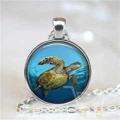 Glass Sea Turtle Necklace - WikiWii
