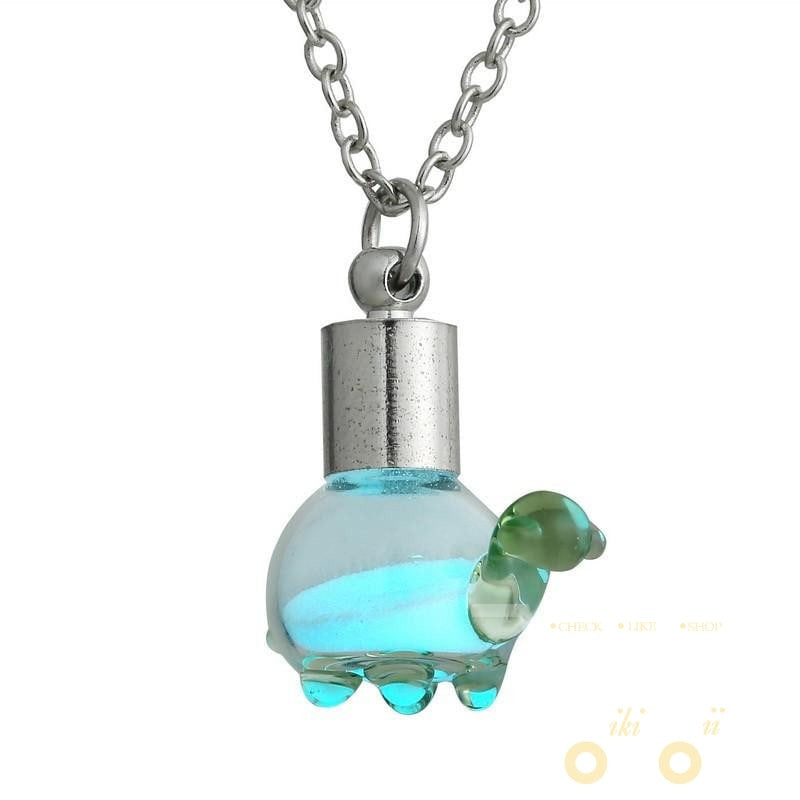Glowing Glass Turtle Necklaces - WikiWii