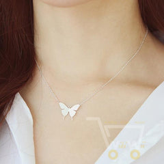 Gold and Silver Fashion Cute Butterfly Pendant Necklaces - WikiWii