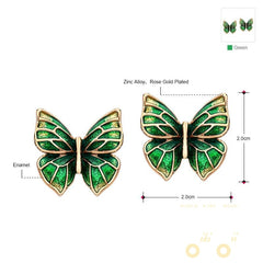 Gold Plated Butterfly Earrings - WikiWii