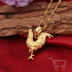 Gold Plated Chicken Necklace - WikiWii