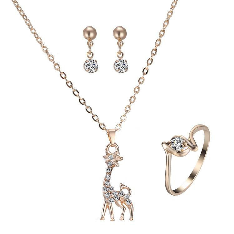 ... Gold Plated Giraffe Necklaces Rings Earrings Jewelry Set - WikiWii ...  sc 1 st  WikiWii.com & Gold Plated Giraffe Necklaces Rings Earrings Jewelry Set