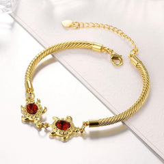 gold plated sea turtle bracelet - WikiWii