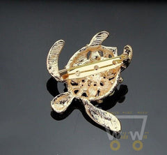 Gold Plated  Turtle Brooch Pin - WikiWii