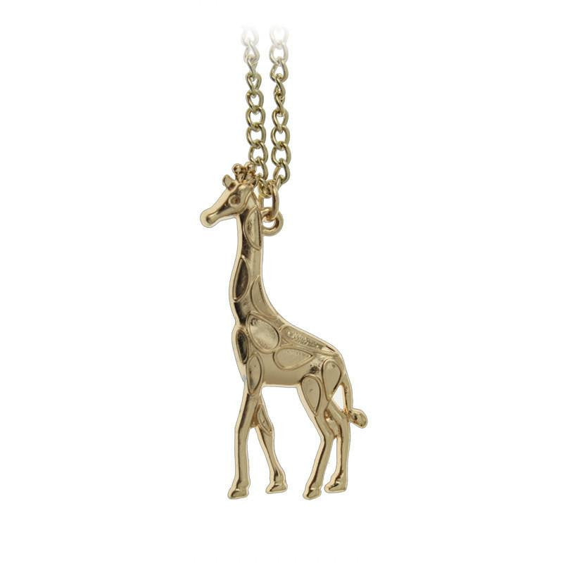 Gold / Silver Plated Giraffe Necklace - WikiWii