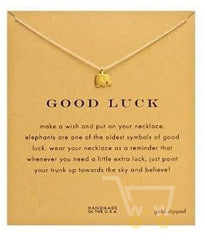 Good Luck Card With gold 18 kg necklace Elephant - WikiWii