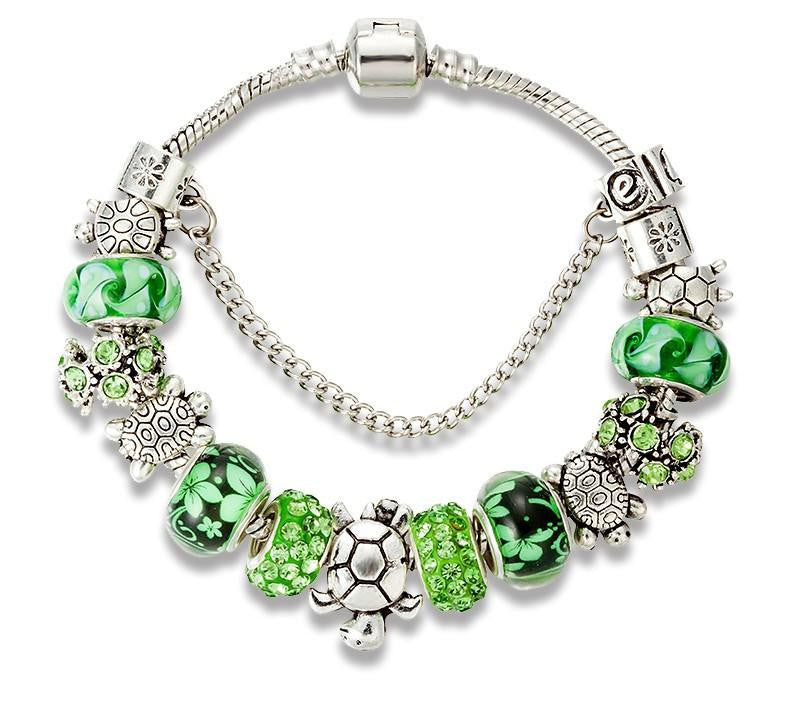 Green Beads Turtle Bracelet - WikiWii