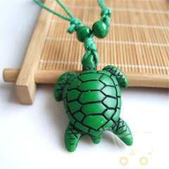 Green Lucky Charm Sea Turtle Neckalce - WikiWii