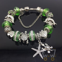 Green Sea Turtle Bracelet - Starfish Bracelet - WikiWii
