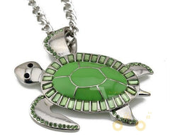 Green Sea Turtles  Long Necklace - WikiWii