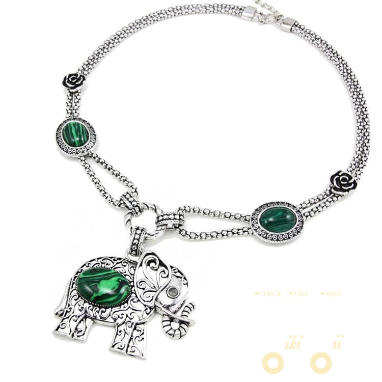 necklace stone shamee green photo savannacouture products precious semi