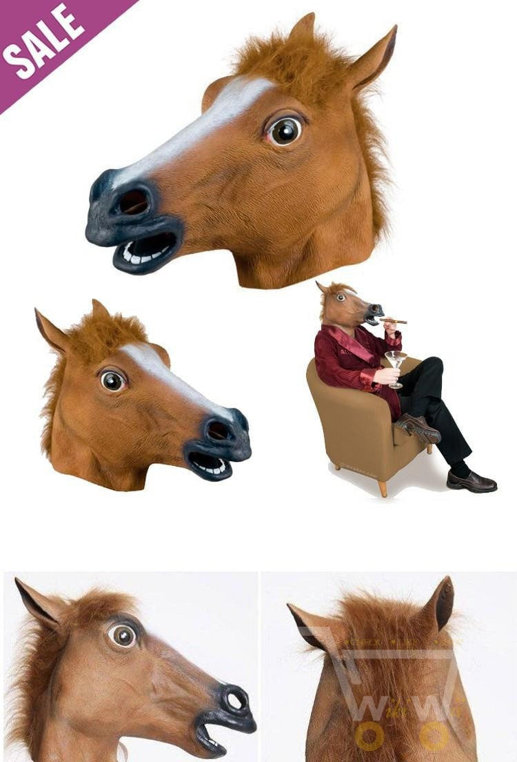 halloween horse mask head wikiwii