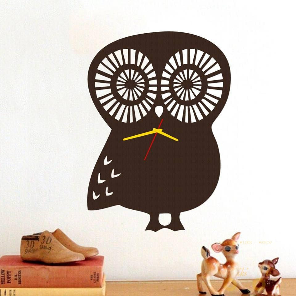 Hand made - Owl Wood Clock - WikiWii