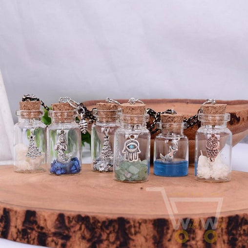 Handmade Owl Jar Necklace - WikiWii