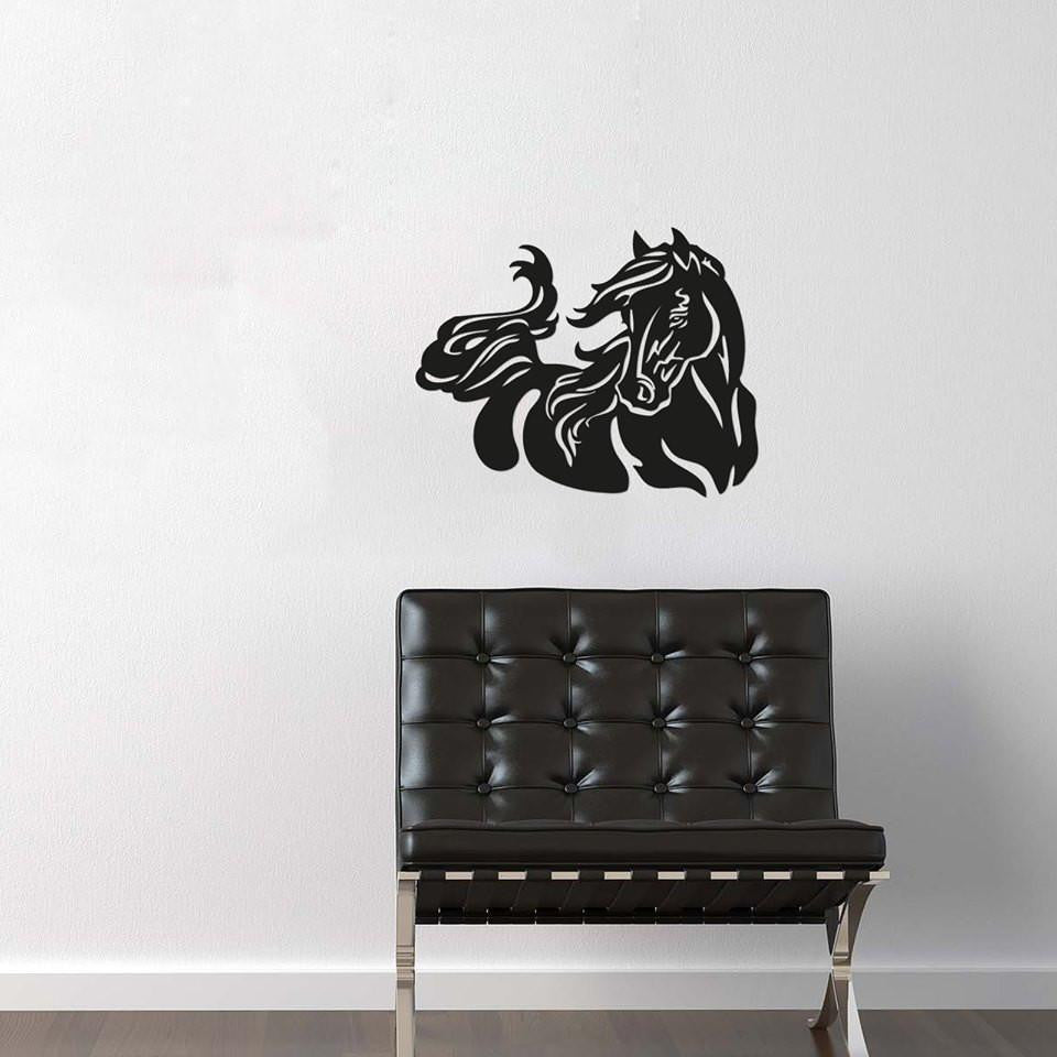 Handmade Wood Horse Head Wall Art - WikiWii