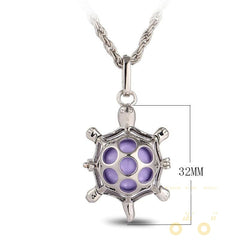 Hollow Sea turtles Necklace ( ESSENTIAL OIL DIFFUSER NECKLACE ) - WikiWii
