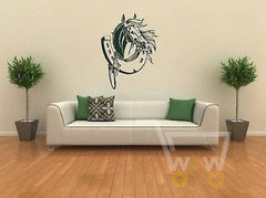 Horse Shoe Art Wall Stickers - WikiWii