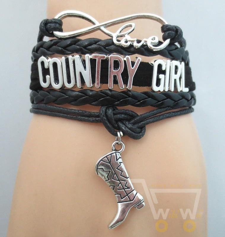 Infinity Love COUNTRY GIRL Bracelet - WikiWii