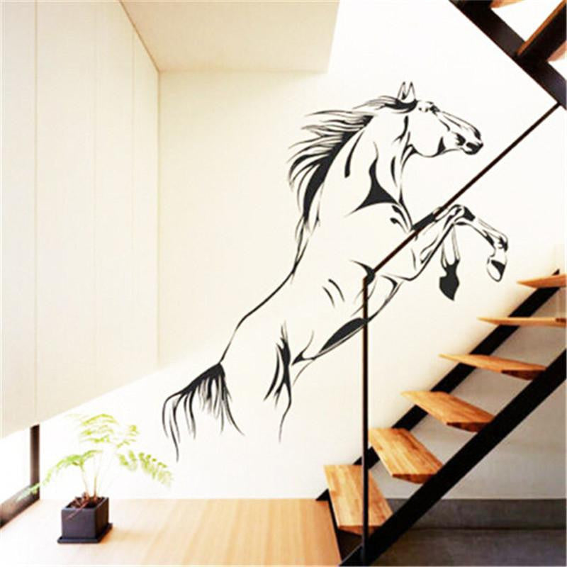 Jumping Horse Wall Art Stickers - WikiWii