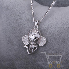 18K Gold / Platinum Plated Indian Elephant Necklace - WikiWii