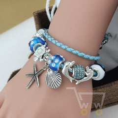 Leather Bracelets Turtle/Starfish/Dolphin - WikiWii