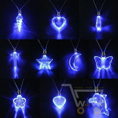 LED Blue Magnetic Light Necklace - WikiWii