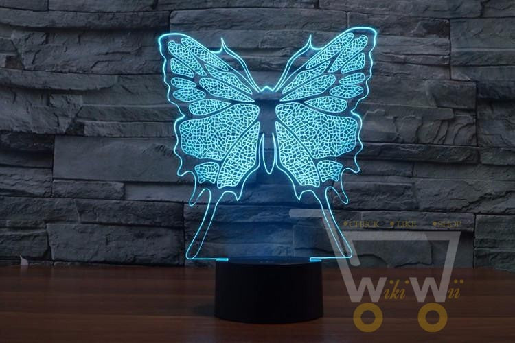 LED Butterfly LAMP- 7 COLORS CHANGEABLE - WikiWii