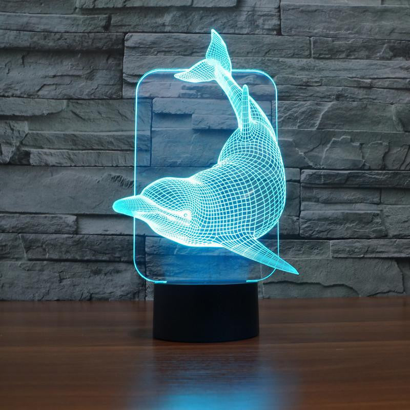 Attractive ... LED Dolphin LAMP  7 COLORS CHANGEABLE   WikiWii ...