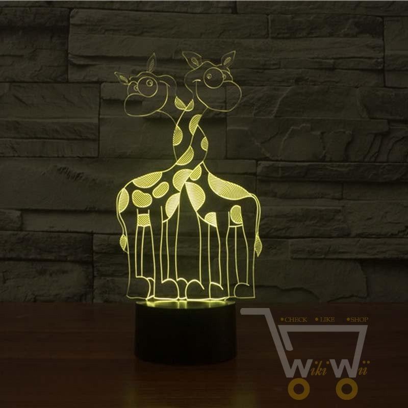 LED Giraffe LAMP- 7 COLORS CHANGEABLE - WikiWii
