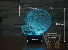 LED Helmet LAMP- 7 COLORS CHANGEABLE - WikiWii
